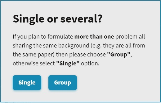 Creating a single problem or group of problems on SciLag
